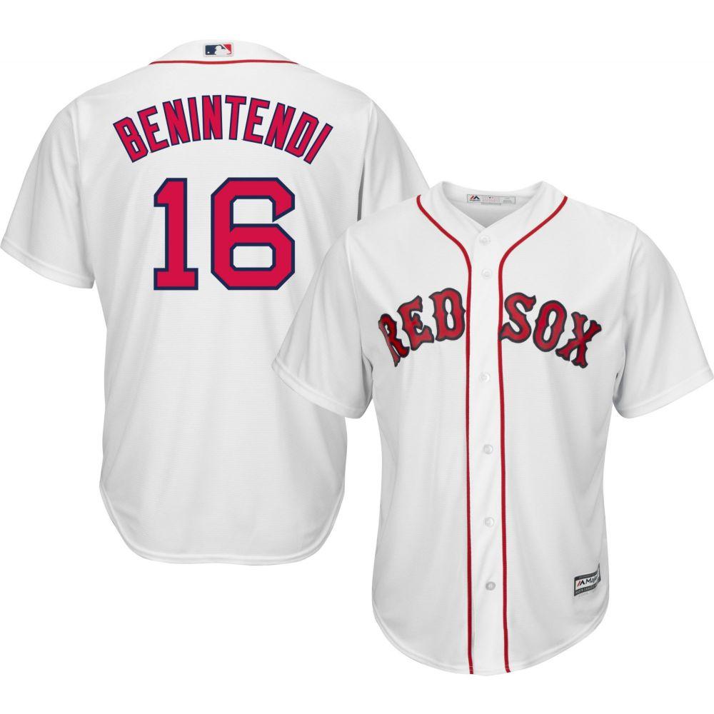 マジェスティック Majestic メンズ トップス【Replica Boston Red Sox Andrew Benintendi #16 Cool Base Home White Jersey】