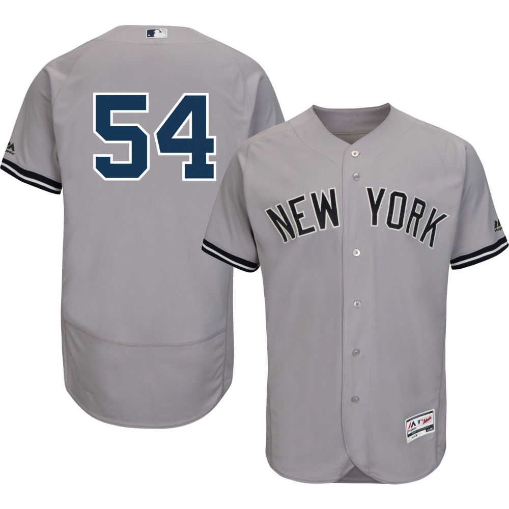 マジェスティック Majestic メンズ トップス【Authentic New York Yankees Aroldis Chapman #54 Flex Base Road Grey On-Field Jersey】
