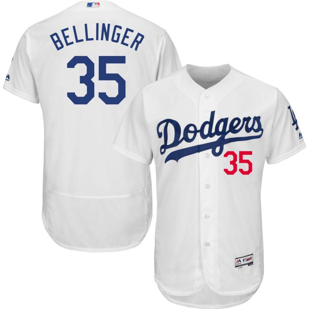 マジェスティック Majestic メンズ トップス【Authentic Los Angeles Dodgers Cody Bellinger #35 Flex Base Home White On-Field Jersey】