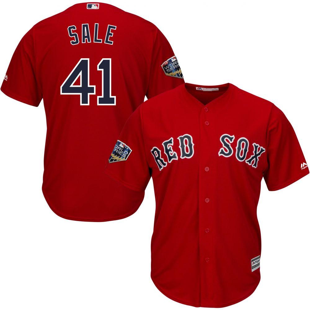マジェスティック Majestic メンズ トップス【2018 World Series Replica Boston Red Sox Chris Sale Cool Base Alternate Red Jersey】