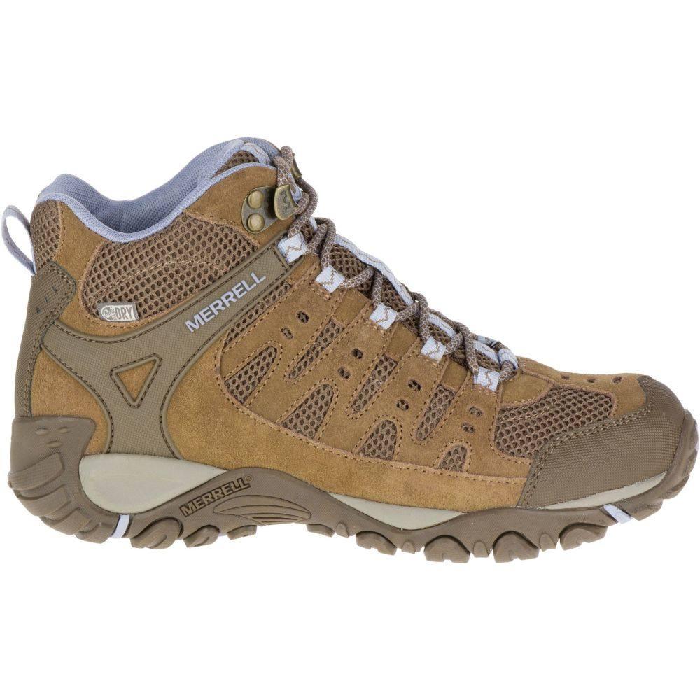 メレル Merrell レディース ハイキング・登山 ブーツ シューズ・靴【accentor mid ventilator waterpoof hiking boots】Otter/Aleutian