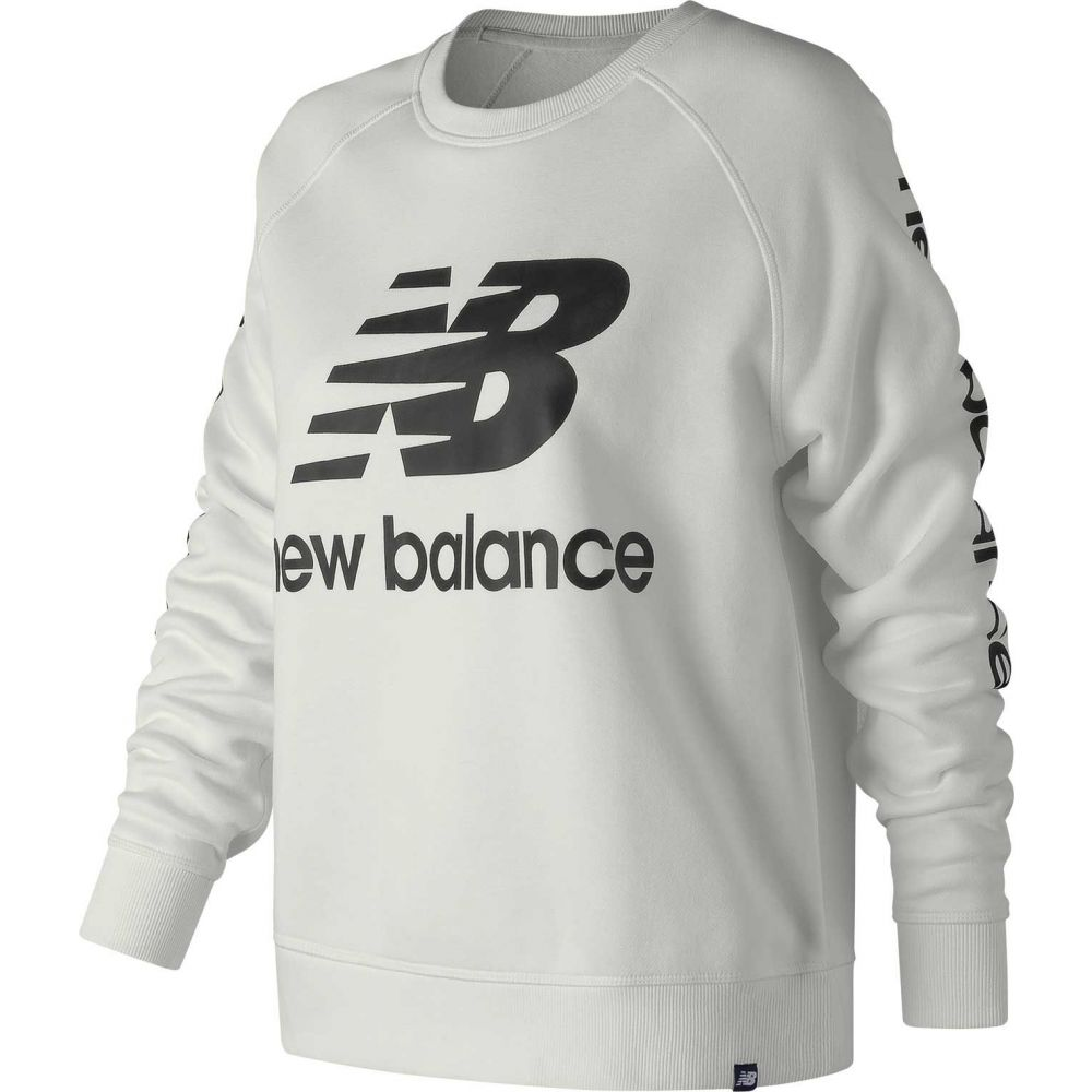 ニューバランス New Balance レディース トップス 【essentials logo crew pullover】White