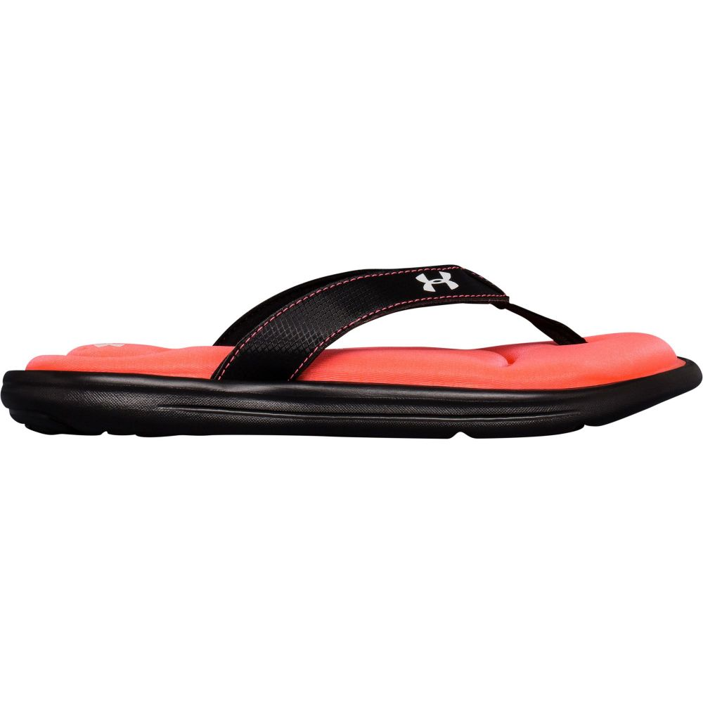 アンダーアーマー Under Armour レディース シューズ・靴 ビーチサンダル【Marbella VI Flip Flops】Black/Orange