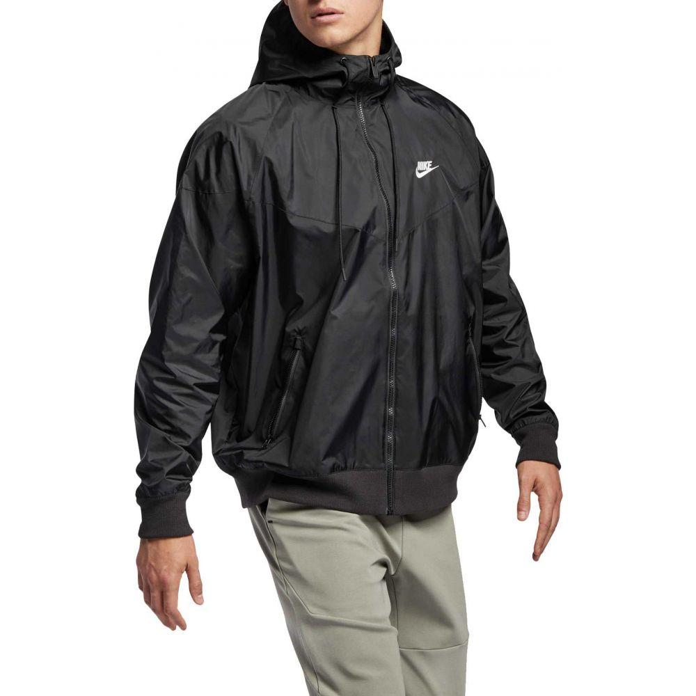 ナイキ Nike メンズ ランニング・ウォーキング アウター【Sportswear 2019 Hooded Windrunner Jacket】Black/Black