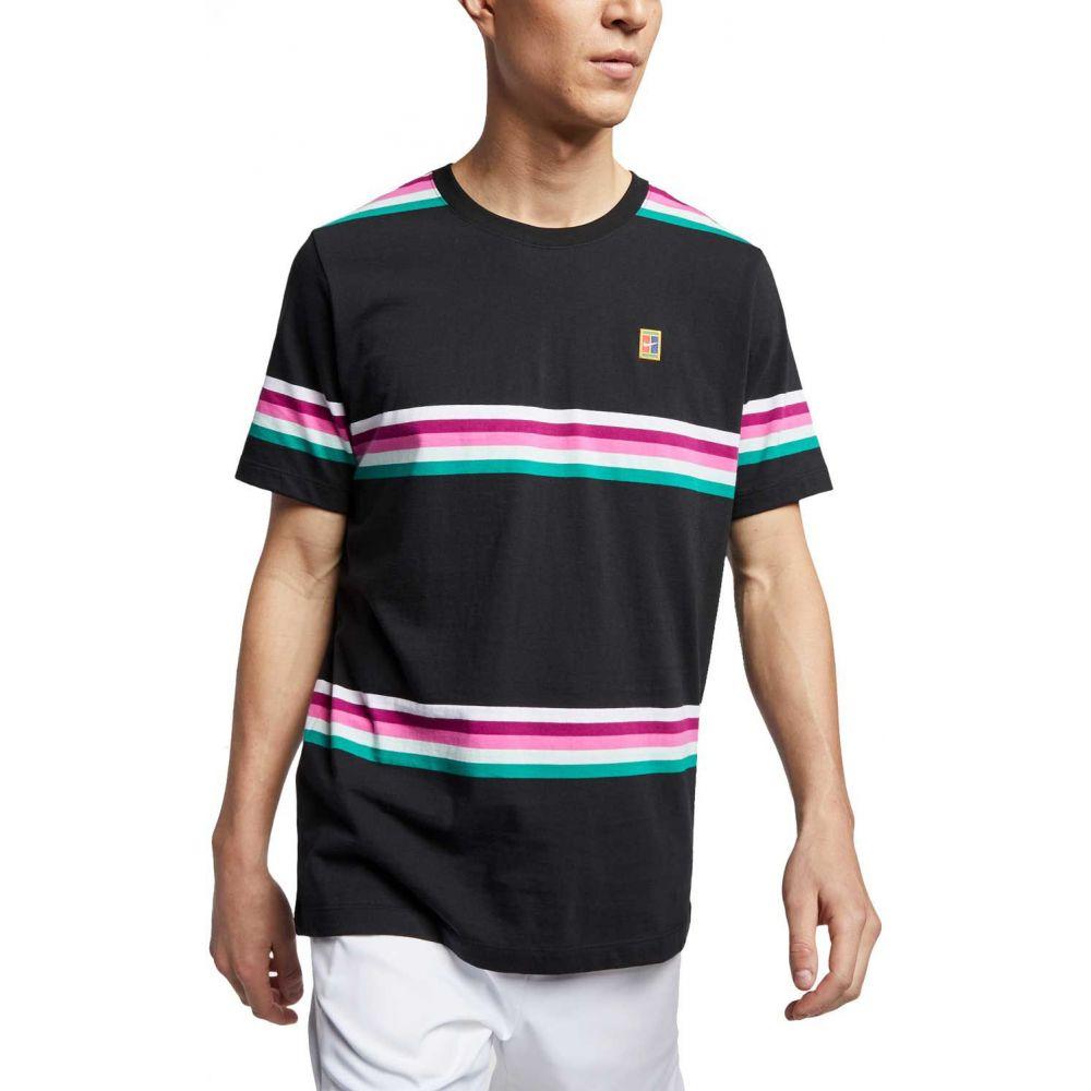 ナイキ ナイキ Nike メンズ メンズ テニス トップス【Court Striped Striped Tennis Shirt】Black, 愛される明月堂の博多通りもん:968717bb --- officewill.xsrv.jp