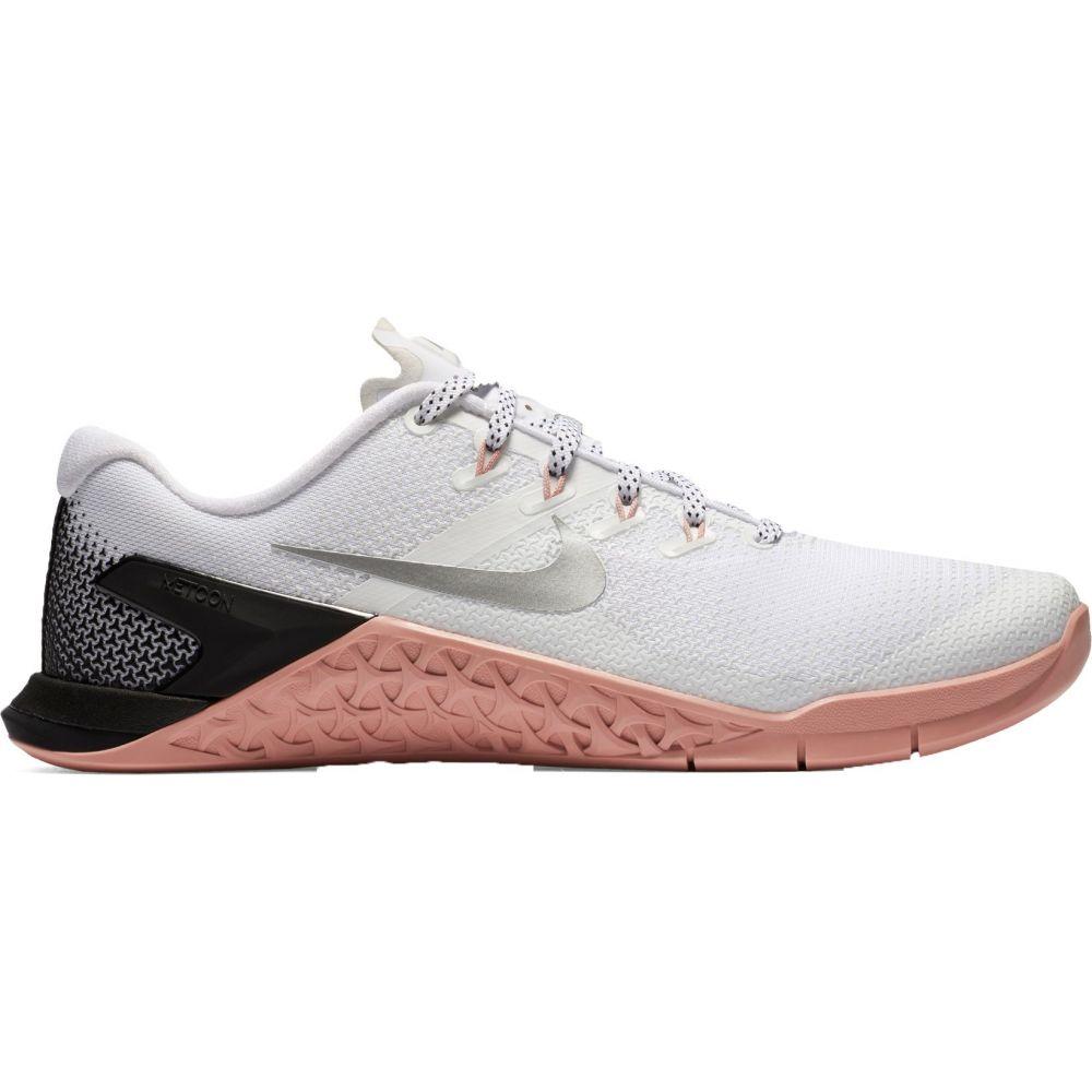 ナイキ Nike レディース フィットネス・トレーニング シューズ・靴【Metcon 4 Training Shoes】White/Metallic Silver