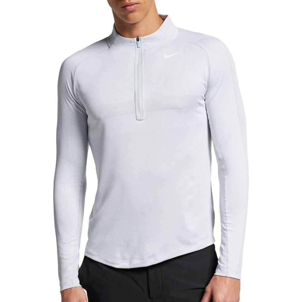 ナイキ Nike メンズ ゴルフ トップス【Seamless Statement Golf Zip】Pure Platinum/White