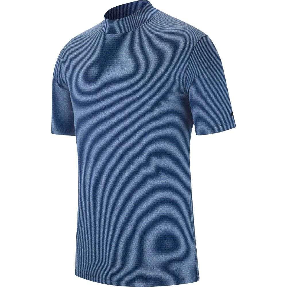 ナイキ Nike メンズ ゴルフ トップス【Tiger Woods Mock Neck Golf Polo】Blue Void
