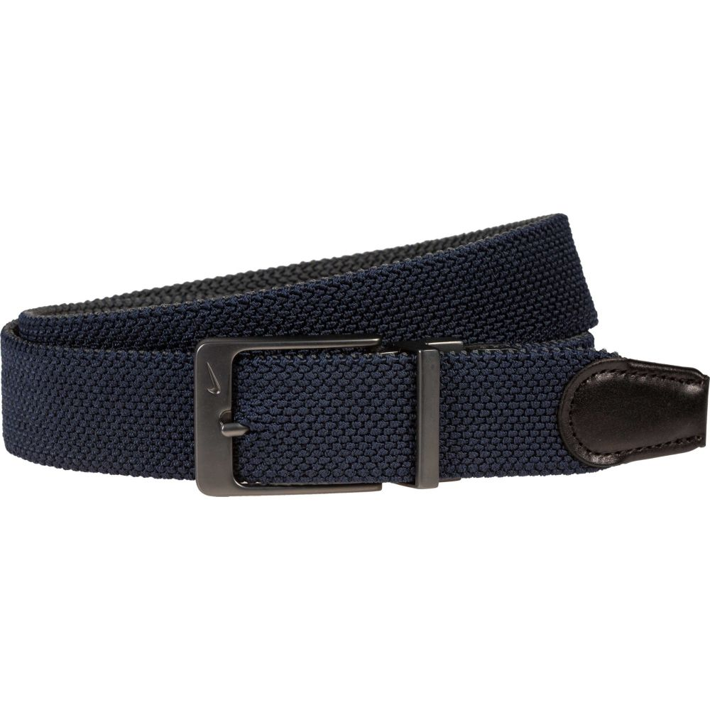 ナイキ Nike メンズ ゴルフ ベルト【reversible woven stretch golf belt】Navy/Dark Grey