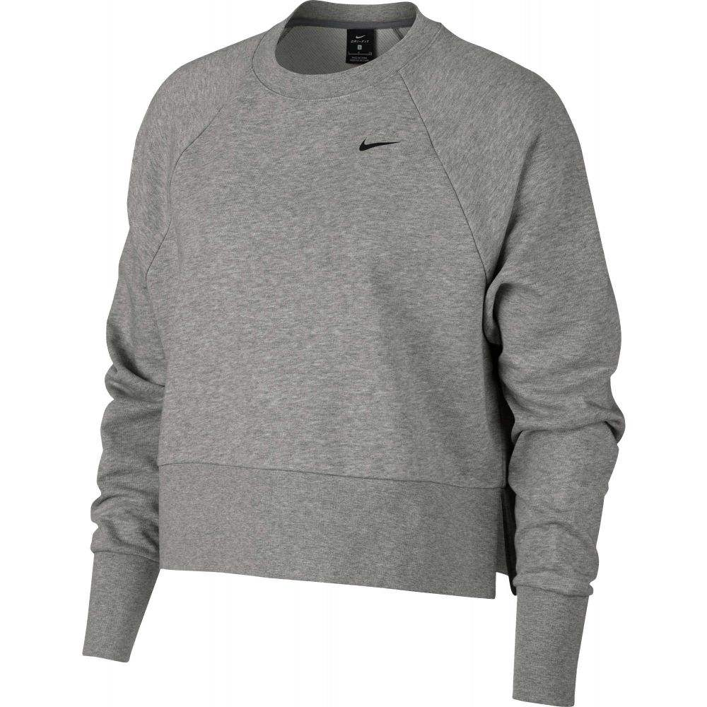 ナイキ Nike レディース フィットネス・トレーニング トップス【Versa Slash Training Crew Pullover】Dk Grey Heather