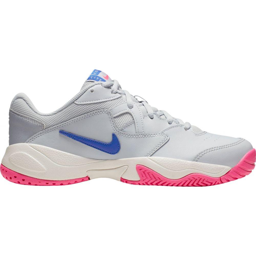 ナイキ Nike レディース テニス シューズ・靴【court lite 2 tennis shoes】Pure Plat/Racer Blu