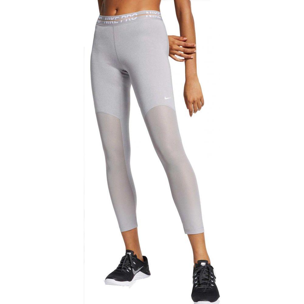 ナイキ Nike レディース インナー・下着 スパッツ・レギンス【Pro Heatherized 7/8 Leggings】Atmosphere Grey