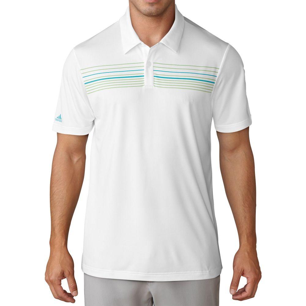 アディダス adidas メンズ ゴルフ ポロシャツ トップス【climacool chest print golf polo】White/Energy Blue