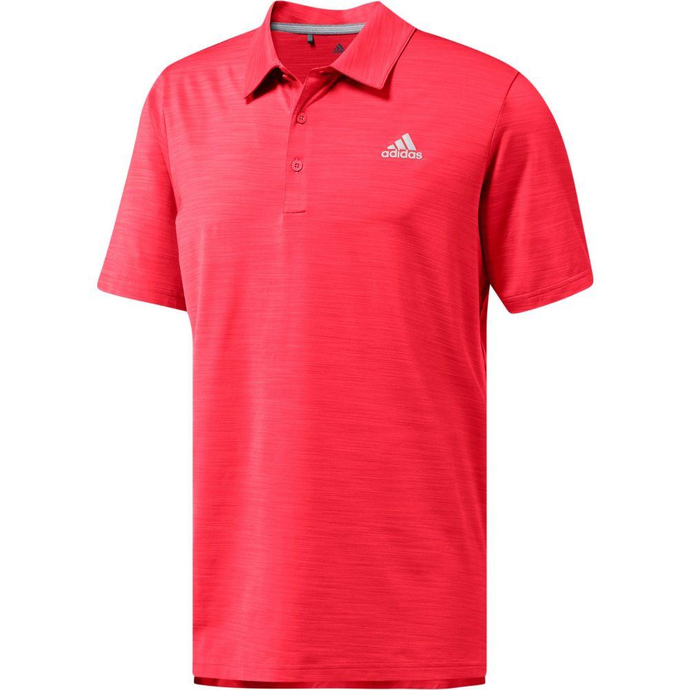 アディダス adidas メンズ ゴルフ ポロシャツ トップス【ultimate365 heather golf polo】Shock Red Heather