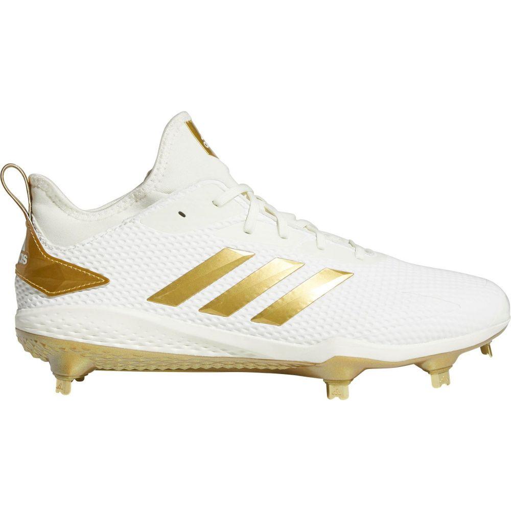 アディダス adidas メンズ 野球 シューズ・靴【adiZERO Afterburner V Metal Baseball Cleats】White/Gold