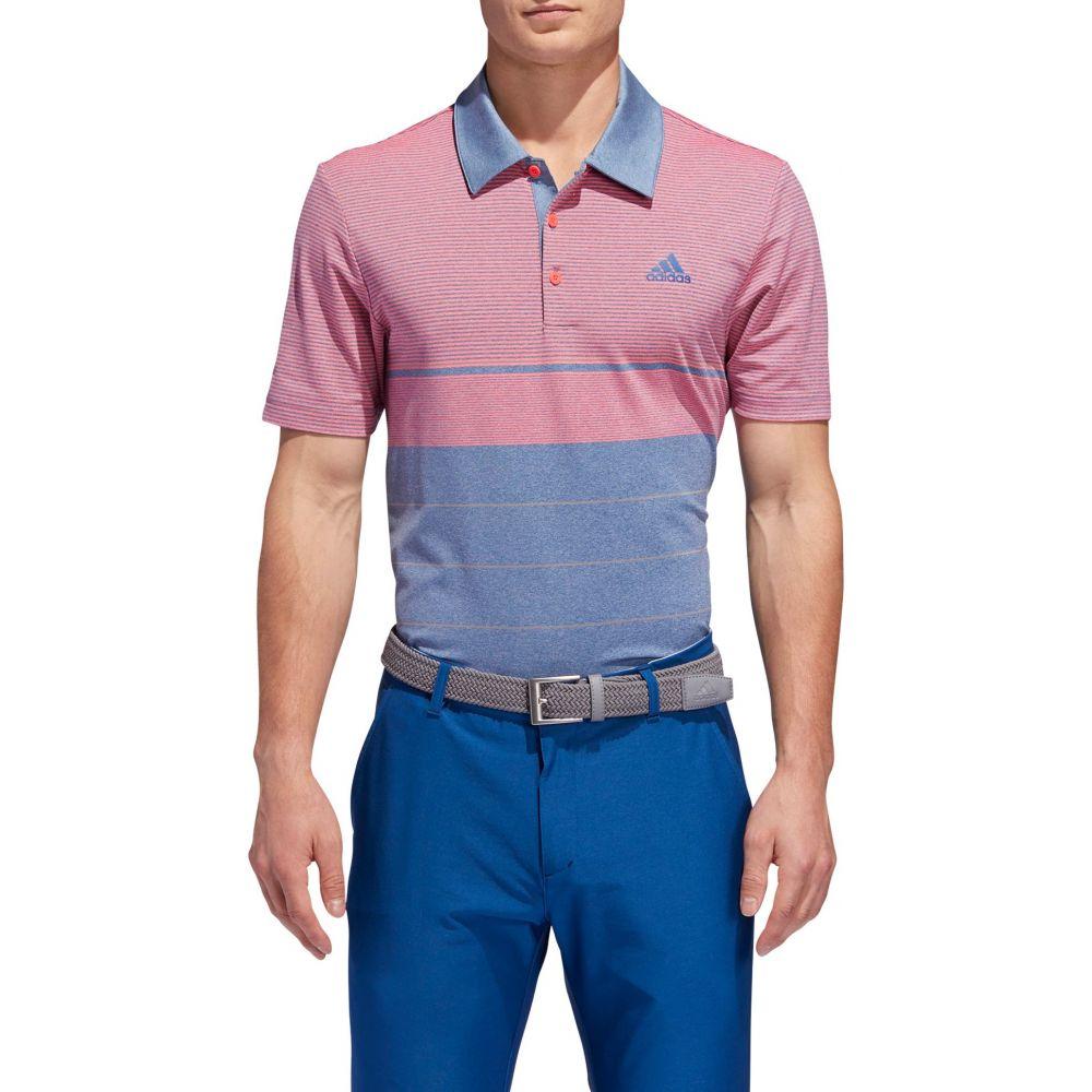 アディダス adidas メンズ ゴルフ トップス【Ultimate365 Heather Gradient Stripe Golf Polo】Drk Marine Htr/Grey