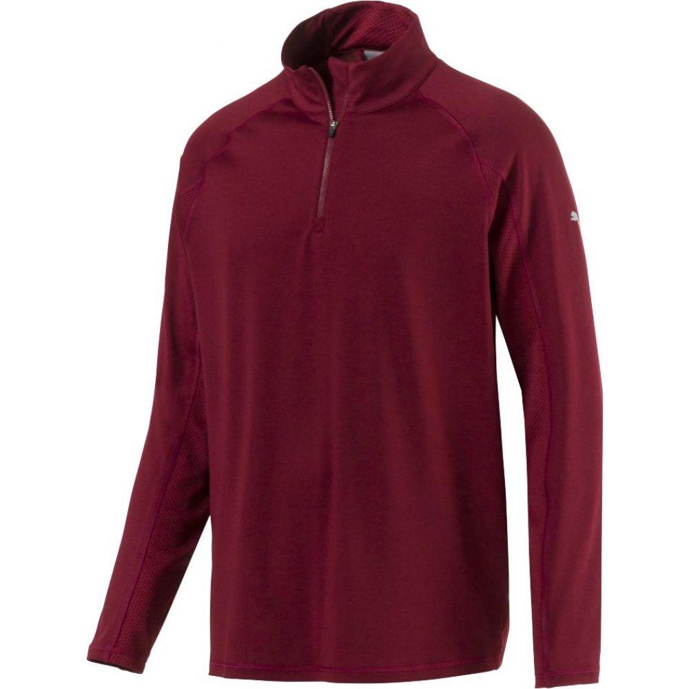 高価値 プーマ PUMA ゴルフ メンズ PUMA ゴルフ トップス【Core Quarter-Zip Golf Pullover Quarter-Zip】Pomegranate, アケノマチ:379387c8 --- enduro.pl