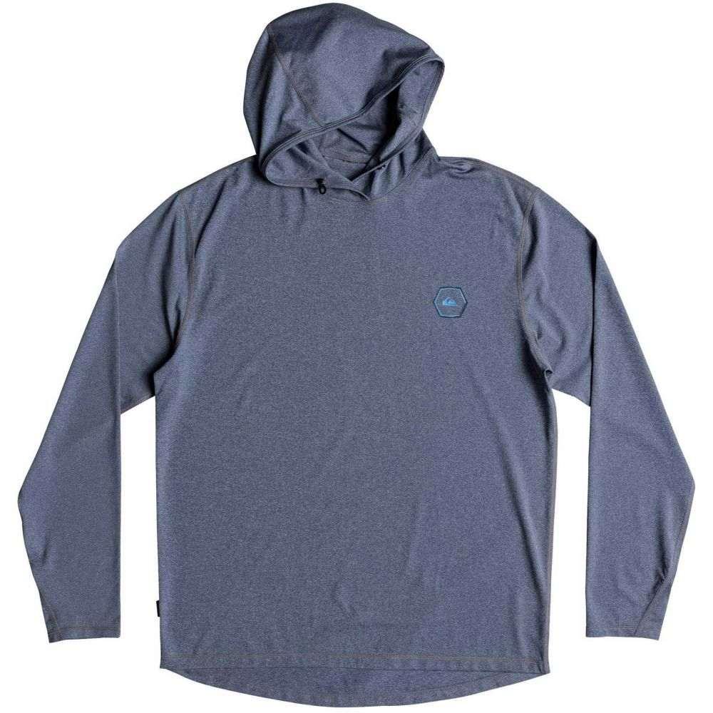 クイックシルバー Quiksilver メンズ ラッシュガード 水着・ビーチウェア【amphibian hooded long sleeve rash guard】Medievel Blue