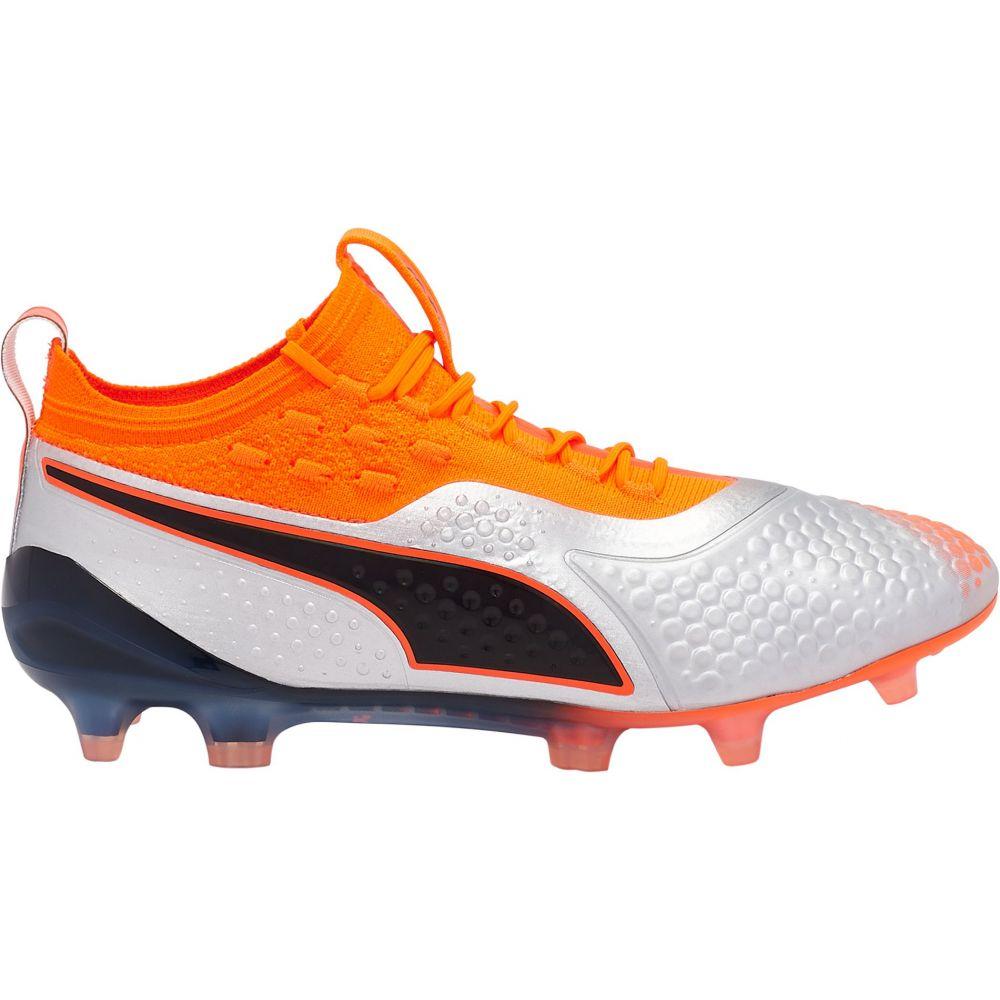 プーマ PUMA メンズ サッカー シューズ・靴【One 1 Synthetic FG/AG Soccer Cleats】Silver/Orange