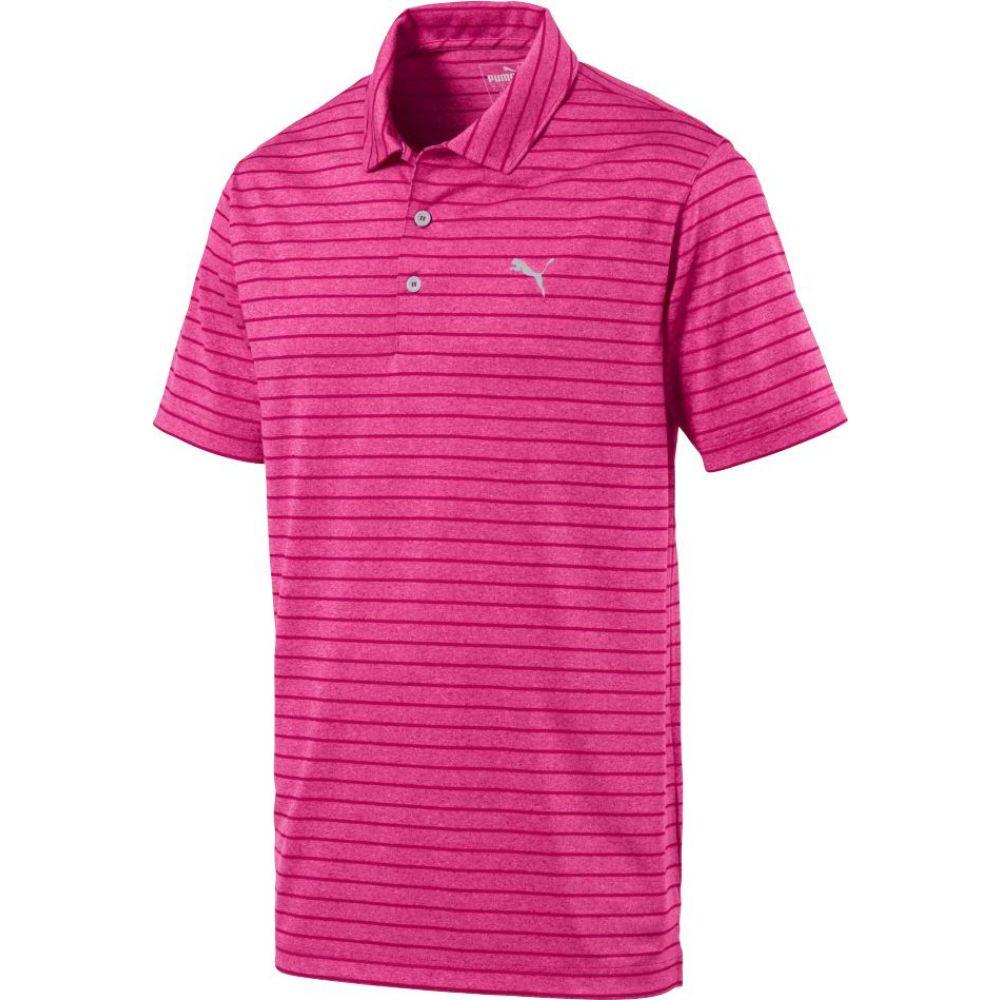 プーマ PUMA メンズ ゴルフ トップス【Rotation Stripe Golf Polo】Fuchsia Purple