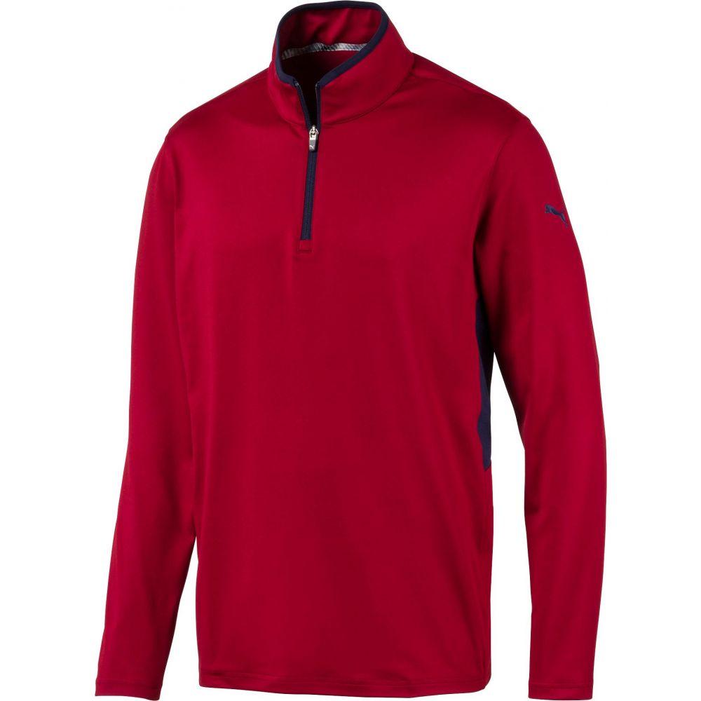プーマ PUMA メンズ ゴルフ トップス【rotation zip golf pullover】Rhubarb