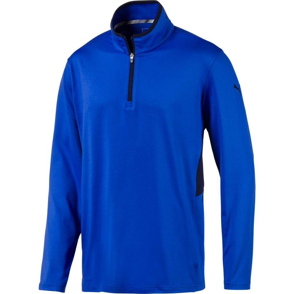 【2019春夏新作】 プーマ PUMA Blue メンズ ゴルフ トップス【Rotation Zip PUMA Golf Pullover プーマ】Dazzling Blue, ムギチョウ:c1205d0b --- enduro.pl