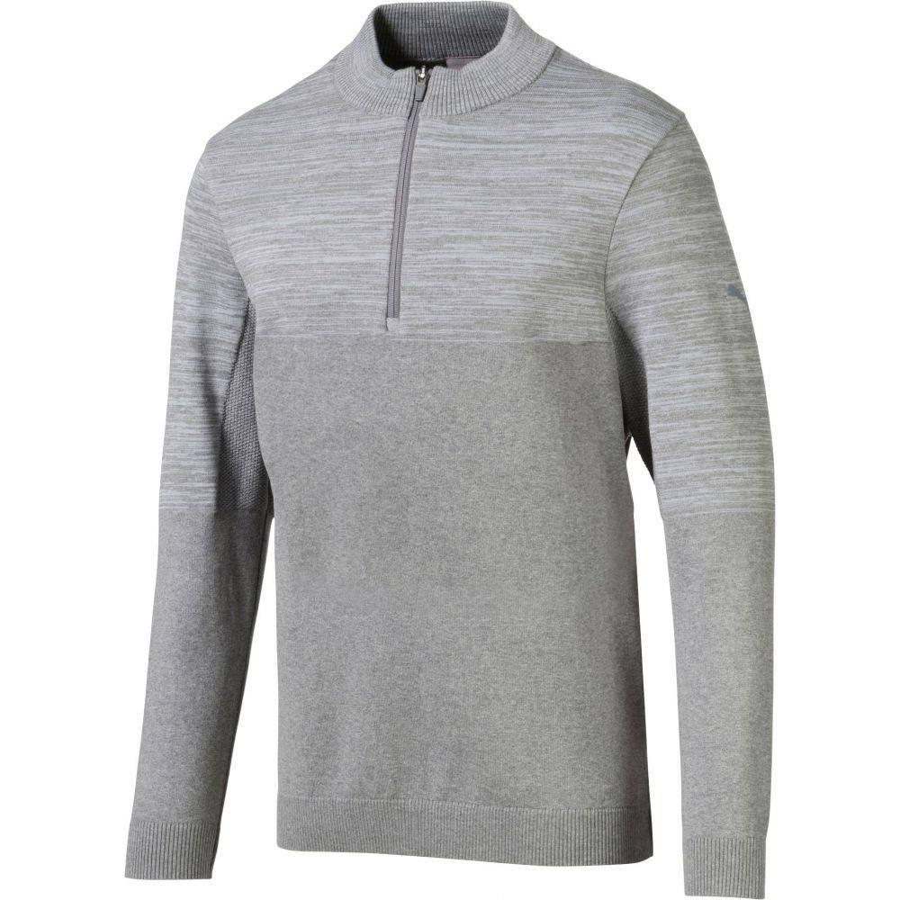 プーマ PUMA メンズ ゴルフ トップス【evoknit colorblock zip golf pullover】Quarry Heather