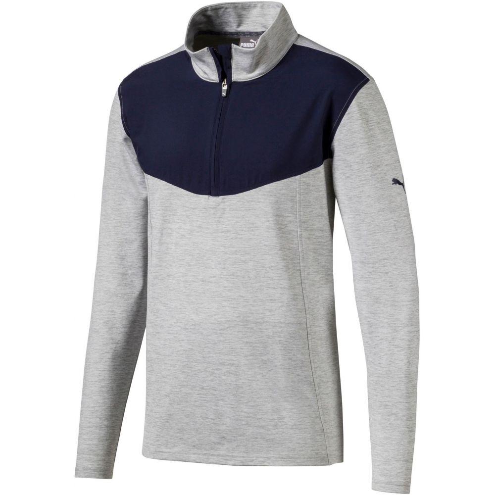 プーマ PUMA メンズ ゴルフ トップス【preston zip golf pullover】Quarry Heather