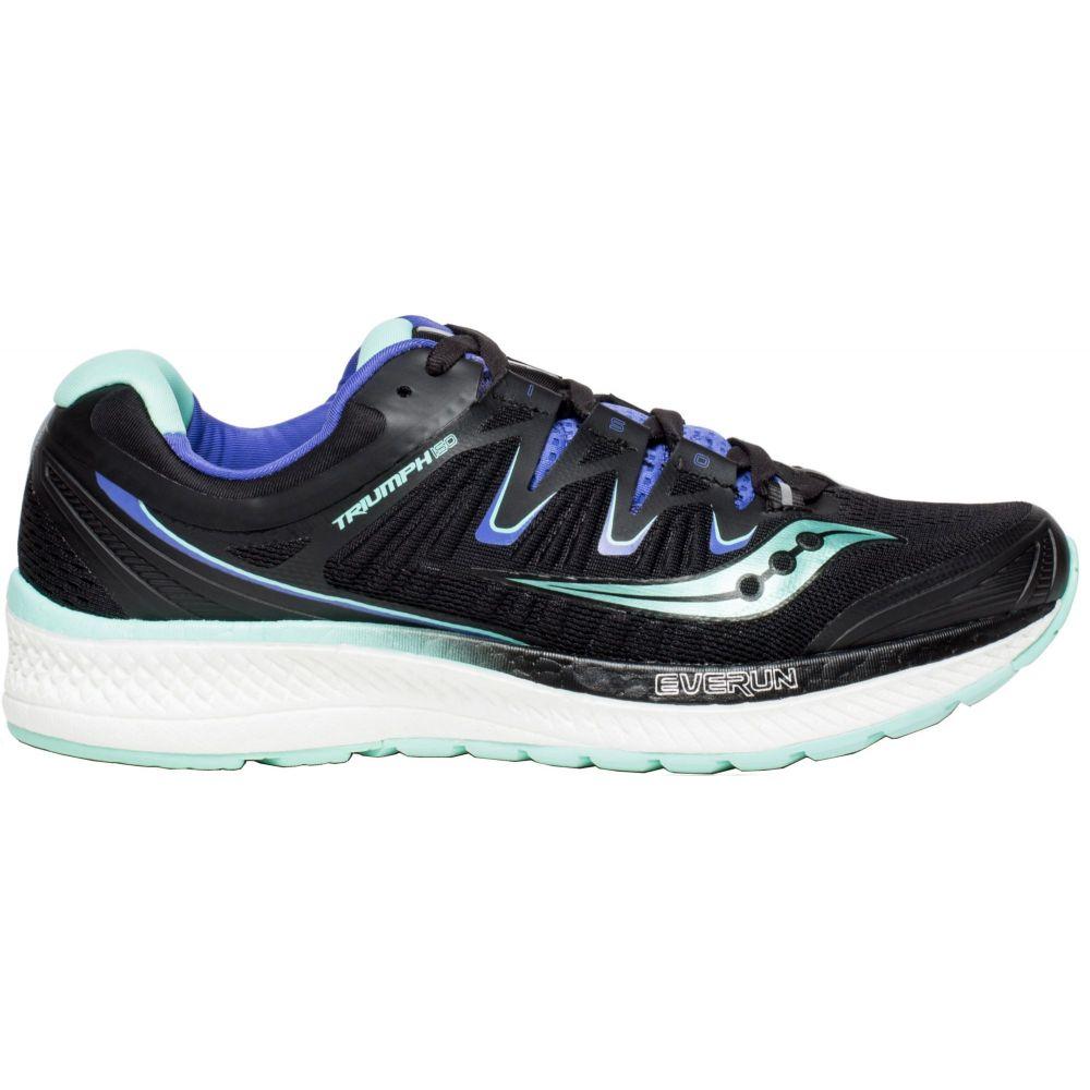サッカニー Saucony レディース ランニング・ウォーキング シューズ・靴【Triumph ISO 4 Running Shoes】Black/Aqua Blue