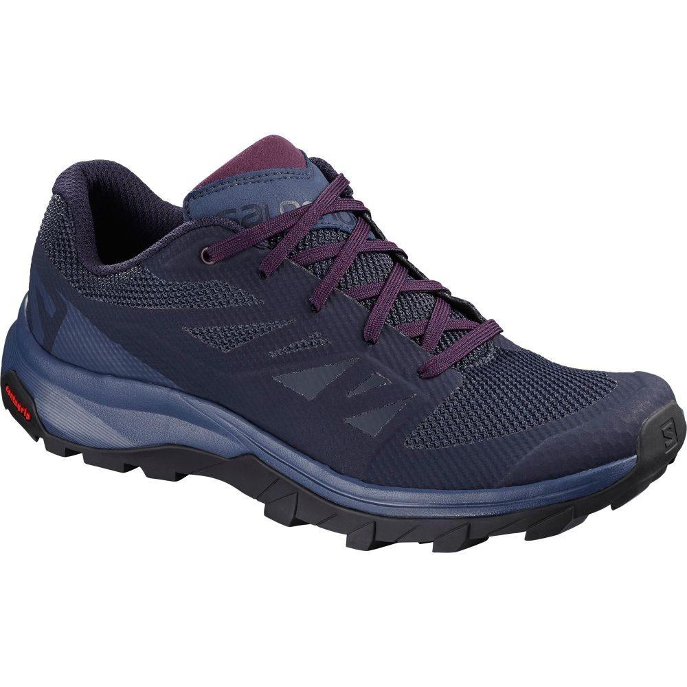 サロモン Salomon レディース ハイキング・登山 シューズ・靴【outline hiking shoes】Evening Blue/Crown Blue