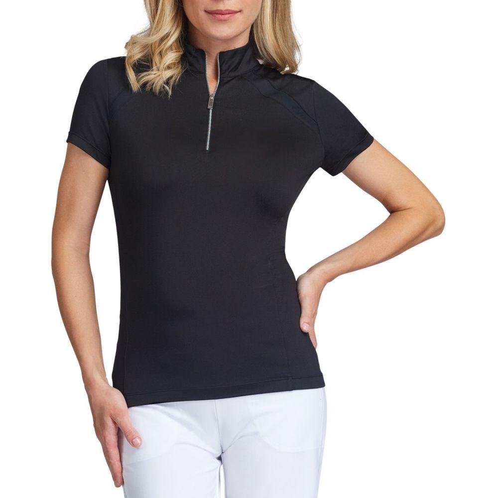 大人気新作 テイル Tail Sleeve レディース Tail ゴルフ トップス【Short Sleeve Zip Insert Polo】Black Golf Polo】Black, ハルノチョウ:e3673ab8 --- enduro.pl