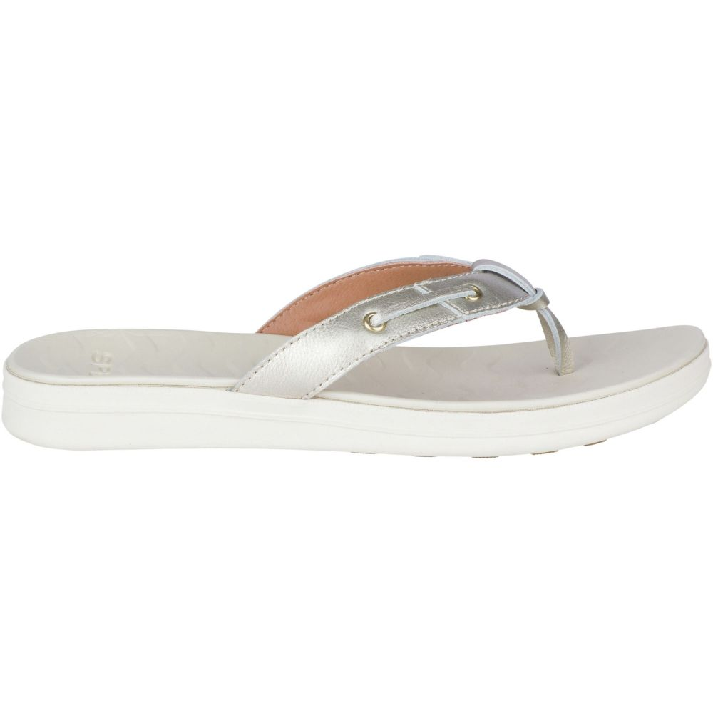 スペリー Sperry Top-Sider レディース シューズ・靴 ビーチサンダル【Sperry Adriatic Flip Flops】Platinum