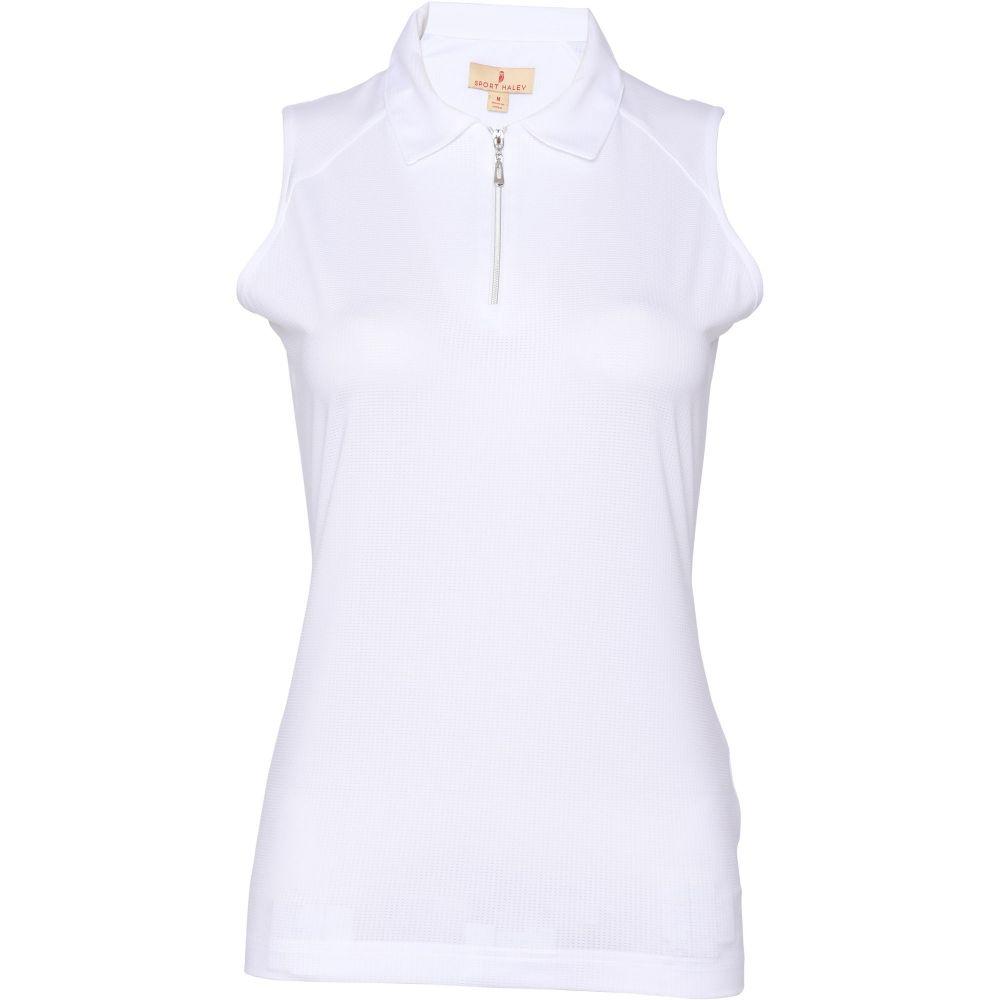 スポーツ ハーレイ Sport Haley レディース ゴルフ トップス【Lanny Sleeveless Golf Polo】White