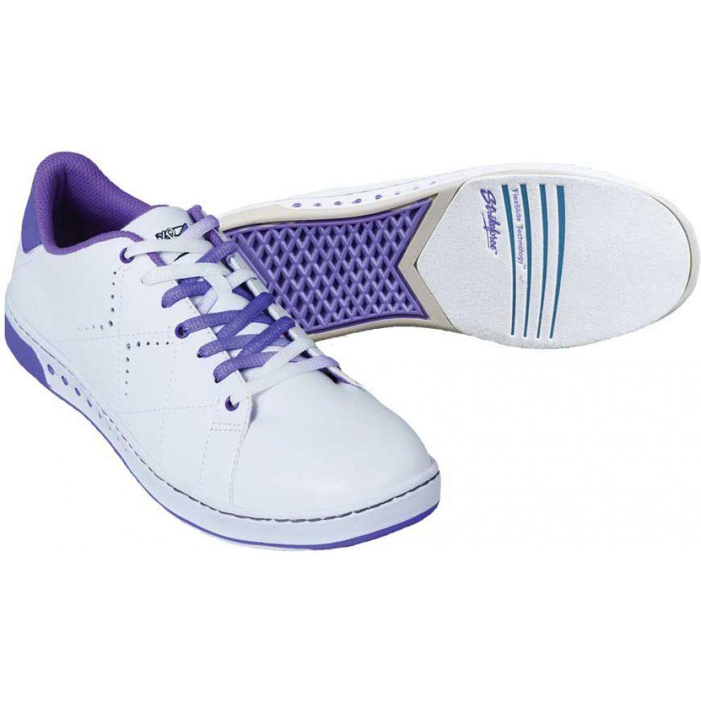 ストライクフォース Strikeforce レディース ボウリング シューズ・靴【gem bowling shoes】White/Purple