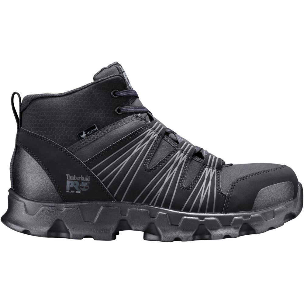 ティンバーランド Timberland メンズ レインシューズ・長靴 ワークブーツ シューズ・靴【pro powertrain 6'' alloy toe work boots】Black