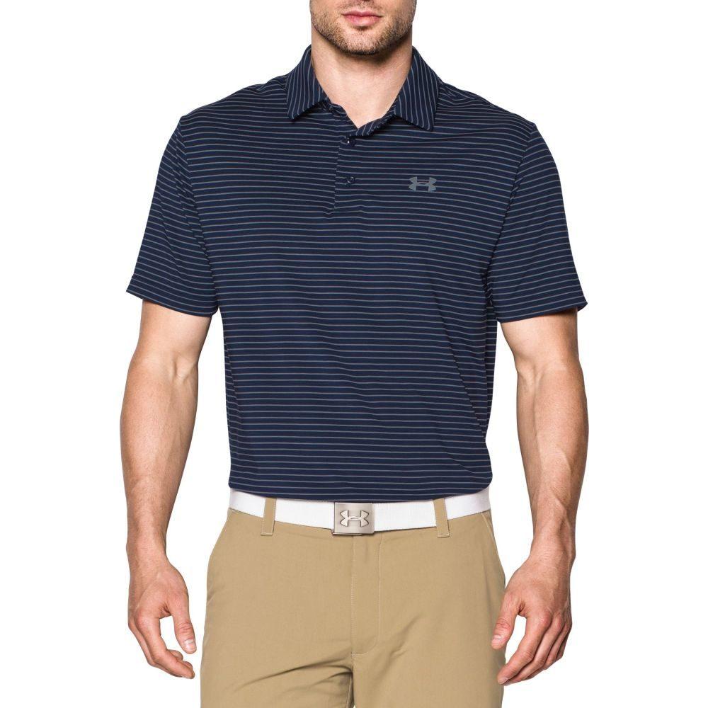 アンダーアーマー Under Armour メンズ ゴルフ トップス【Playoff Heather Stripe Golf Polo】Academy