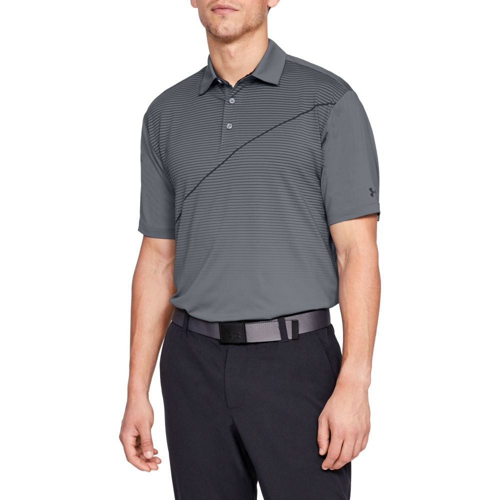 アンダーアーマー Under Armour メンズ ゴルフ トップス【Playoff Pitch Golf Polo】Zinc Gray/Black