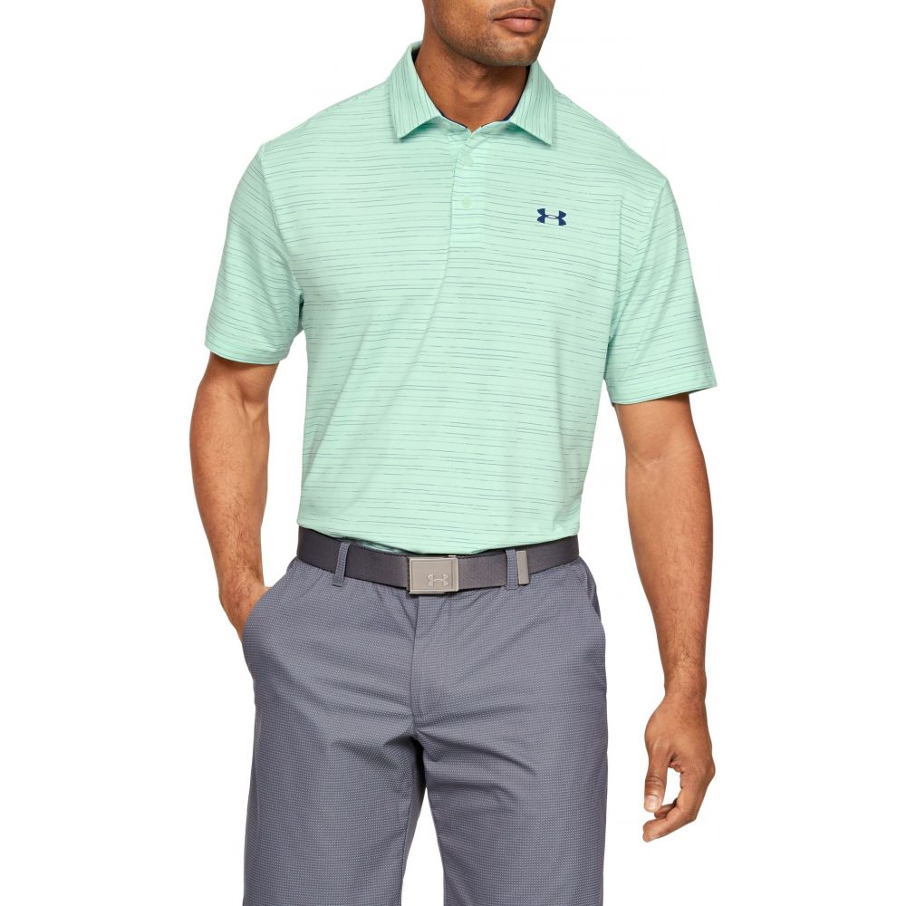 アンダーアーマー Under Armour メンズ ゴルフ トップス【Playoff Laser Golf Polo】Aqua Foam/Petrol Blue