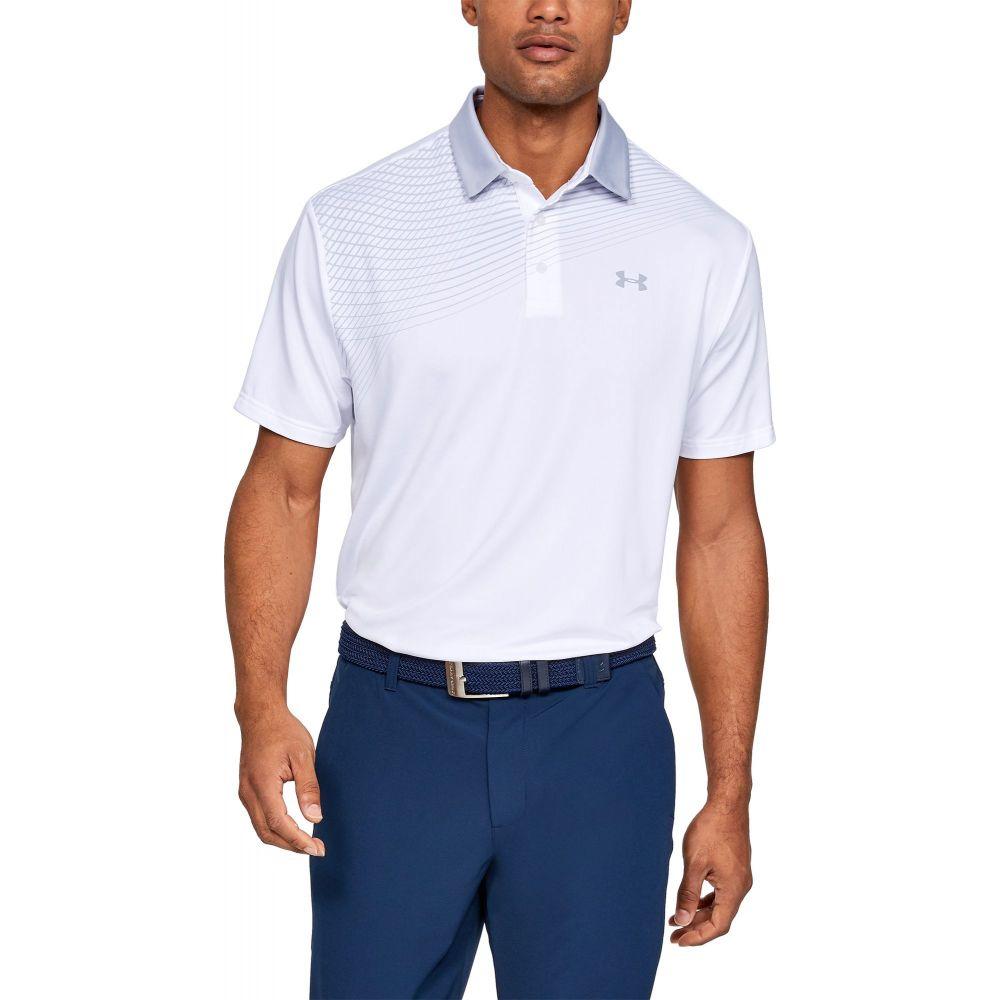 アンダーアーマー Under Armour メンズ ゴルフ トップス【Playoff 2.0 Backswing Golf Polo】White/Mod Gray