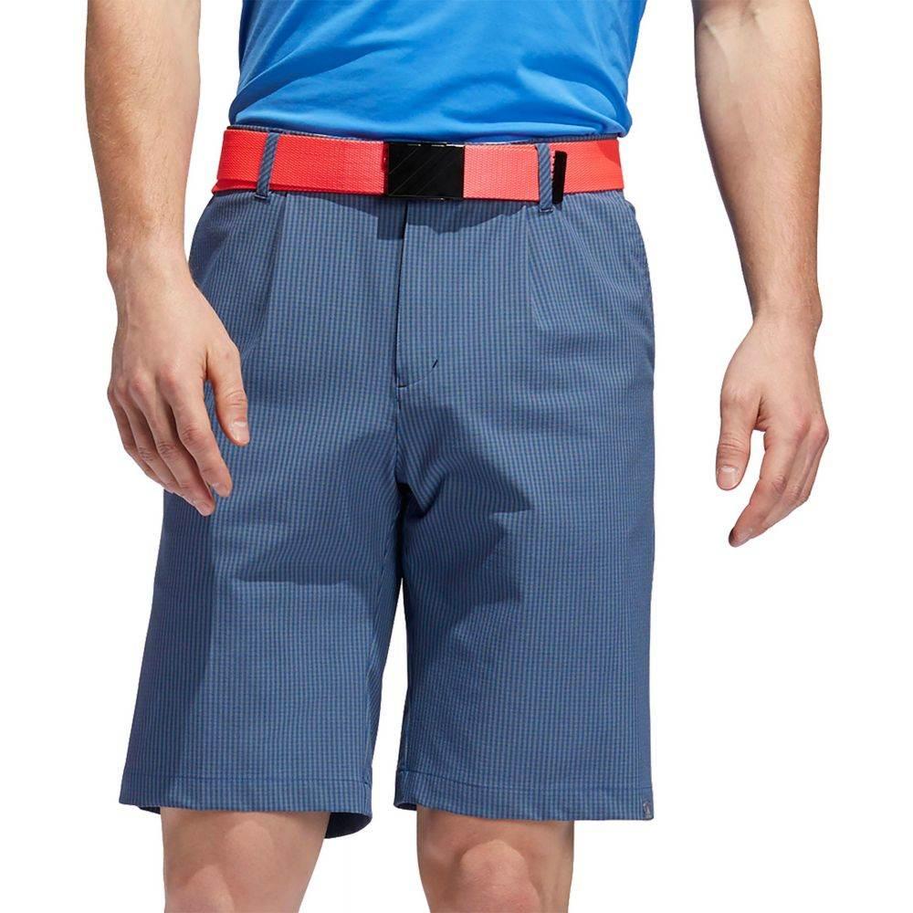 アディダス adidas メンズ ゴルフ ボトムス・パンツ【Ultimate365 Gingham Golf Shorts】Dark Marine
