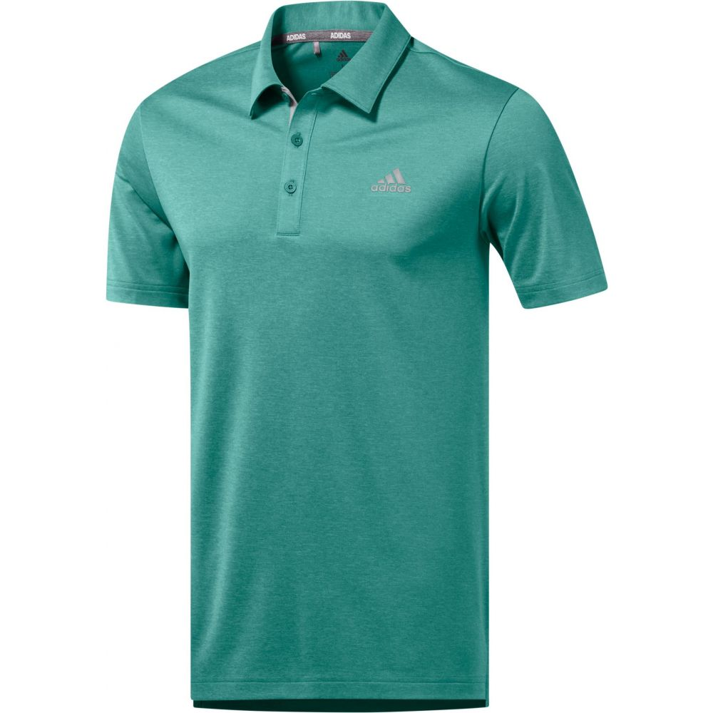 アディダス adidas メンズ ゴルフ ポロシャツ トップス【drive novelty heather golf polo】True Green Htr/Grey Two