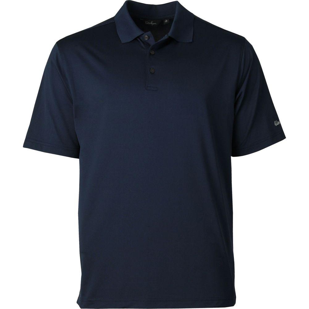 ウォルターヘーゲン Walter Hagen メンズ ゴルフ 大きいサイズ ポロシャツ トップス【solid golf polo - big & tall】Navy