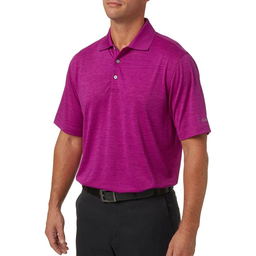 ウォルターヘーゲン Walter Hagen メンズ ゴルフ ポロシャツ トップス【core space dye golf polo】Berry Purple