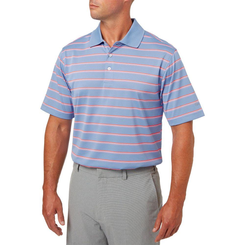 ウォルターヘーゲン Walter Hagen メンズ ゴルフ ポロシャツ トップス【essentials wide stripe golf polo】Periwinkle