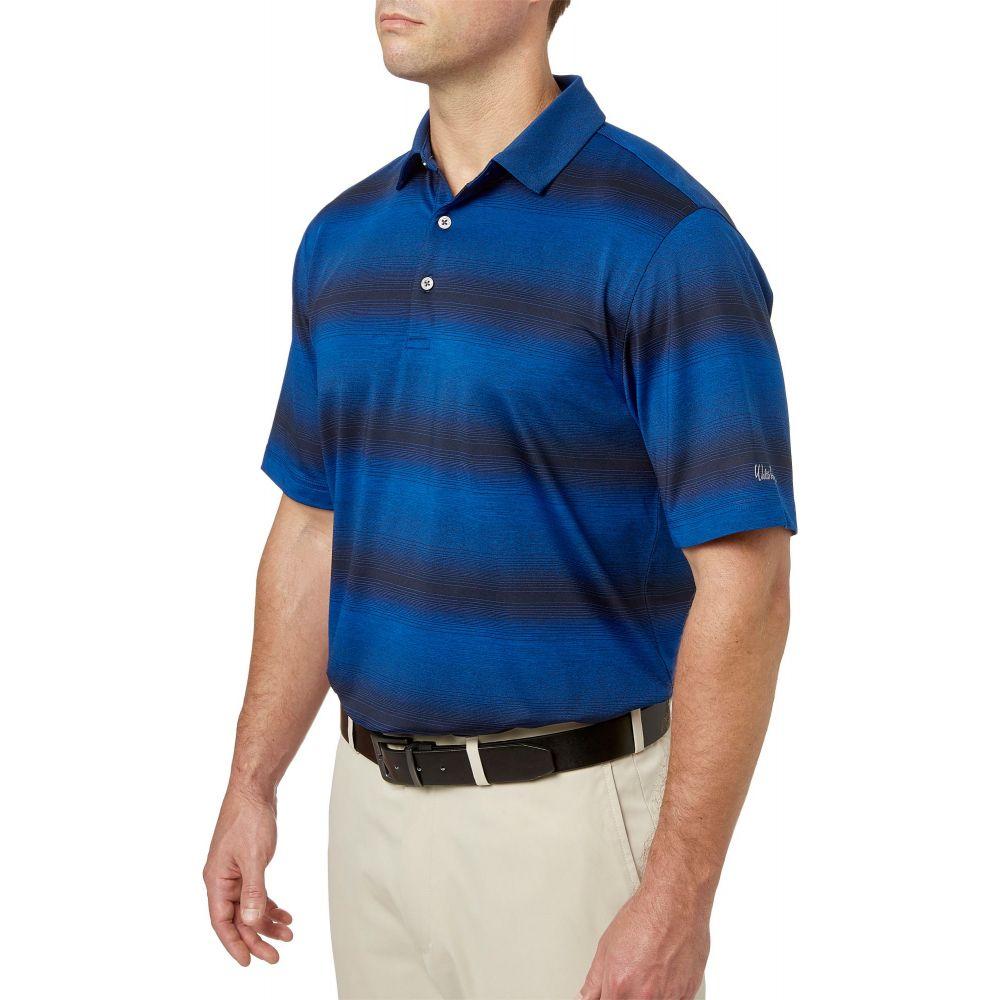 ウォルターヘーゲン Walter Hagen メンズ ゴルフ トップス【Gradient Wide Stripe Golf Polo】Sea Blue