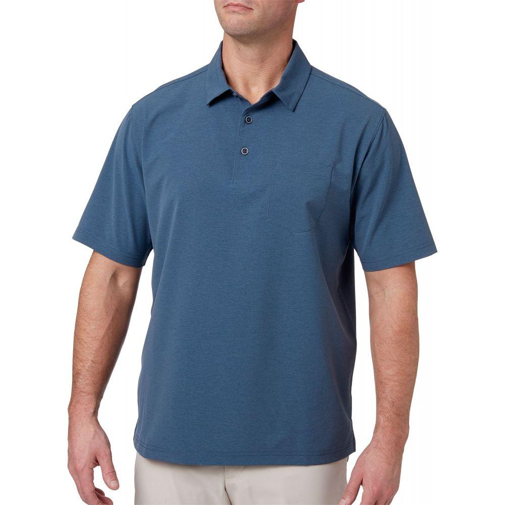 ウォルターヘーゲン Walter Hagen メンズ ゴルフ ポロシャツ トップス【lifestyle stretch woven golf polo】グレー Slate