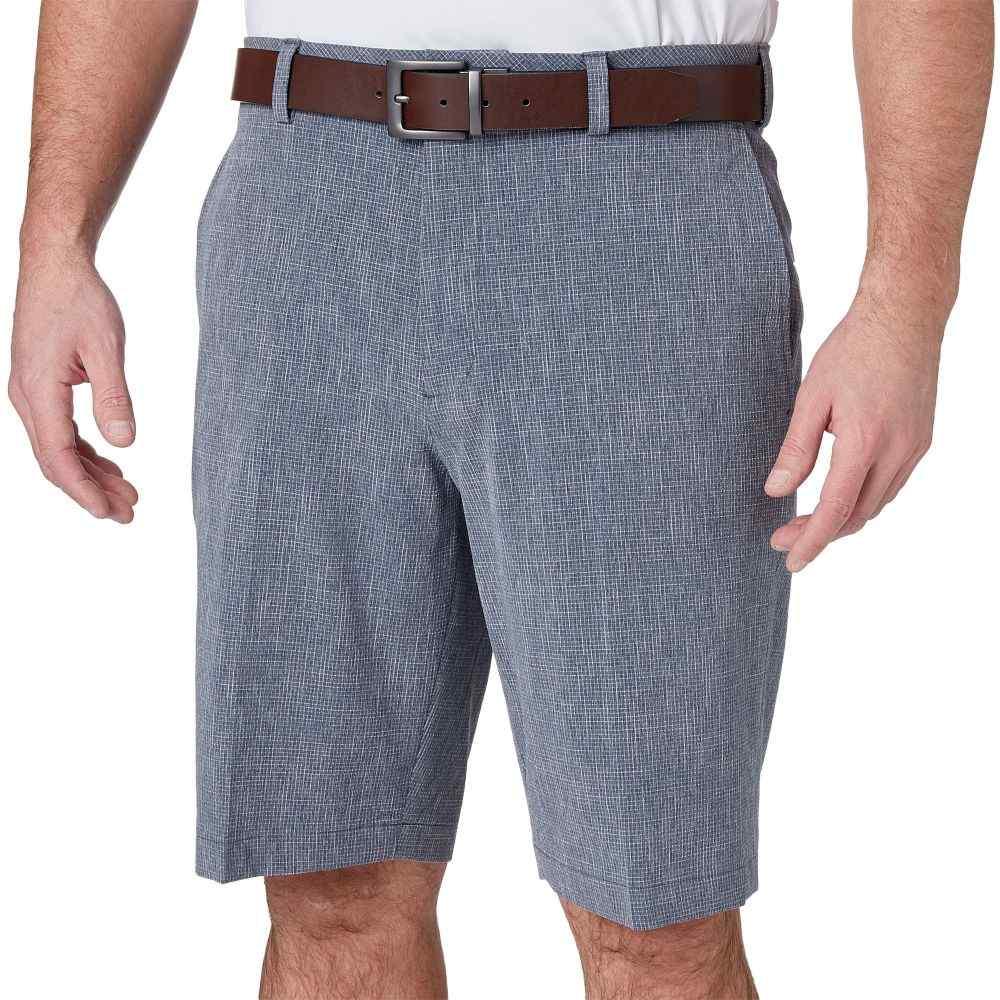 ウォルターヘーゲン Walter Hagen メンズ ゴルフ ショートパンツ ボトムス・パンツ【11 majors textured grid golf shorts】Navy