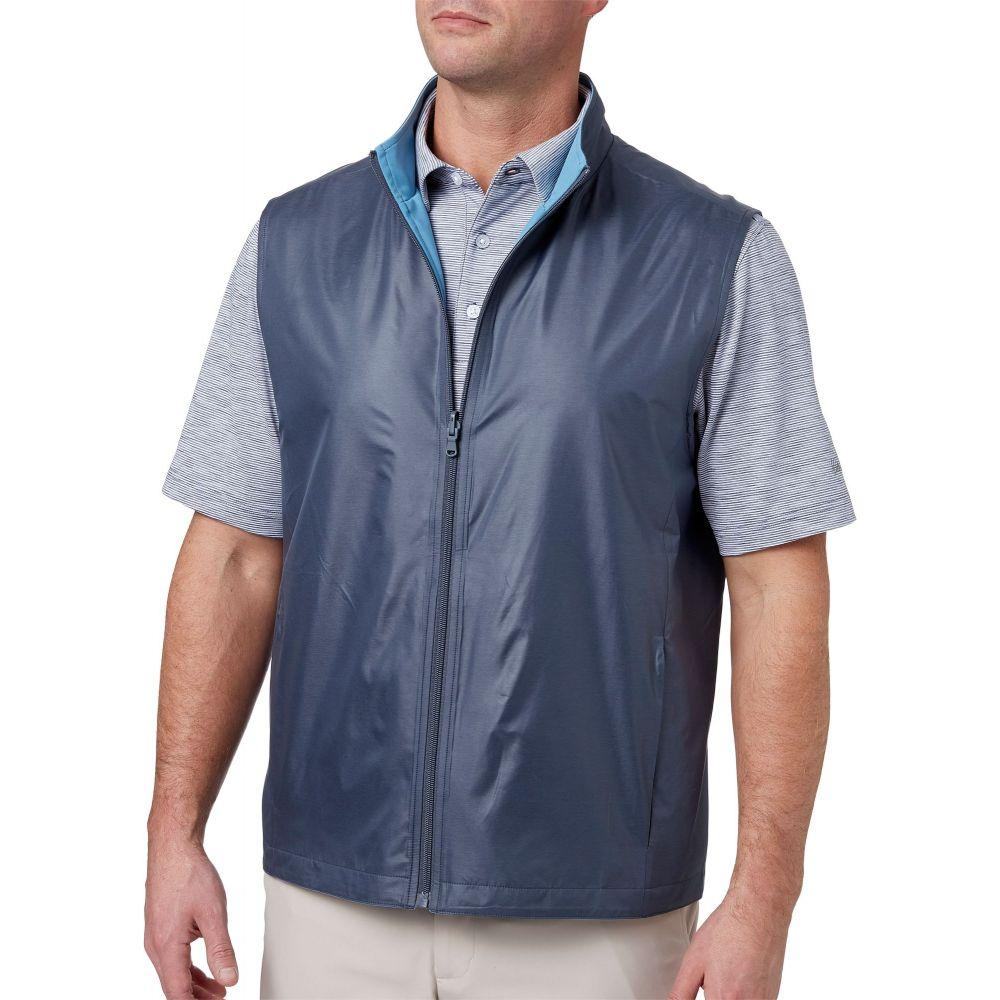 ウォルターヘーゲン Walter Hagen メンズ ゴルフ トップス【Reversible Woven Golf Vest】Grey Slate