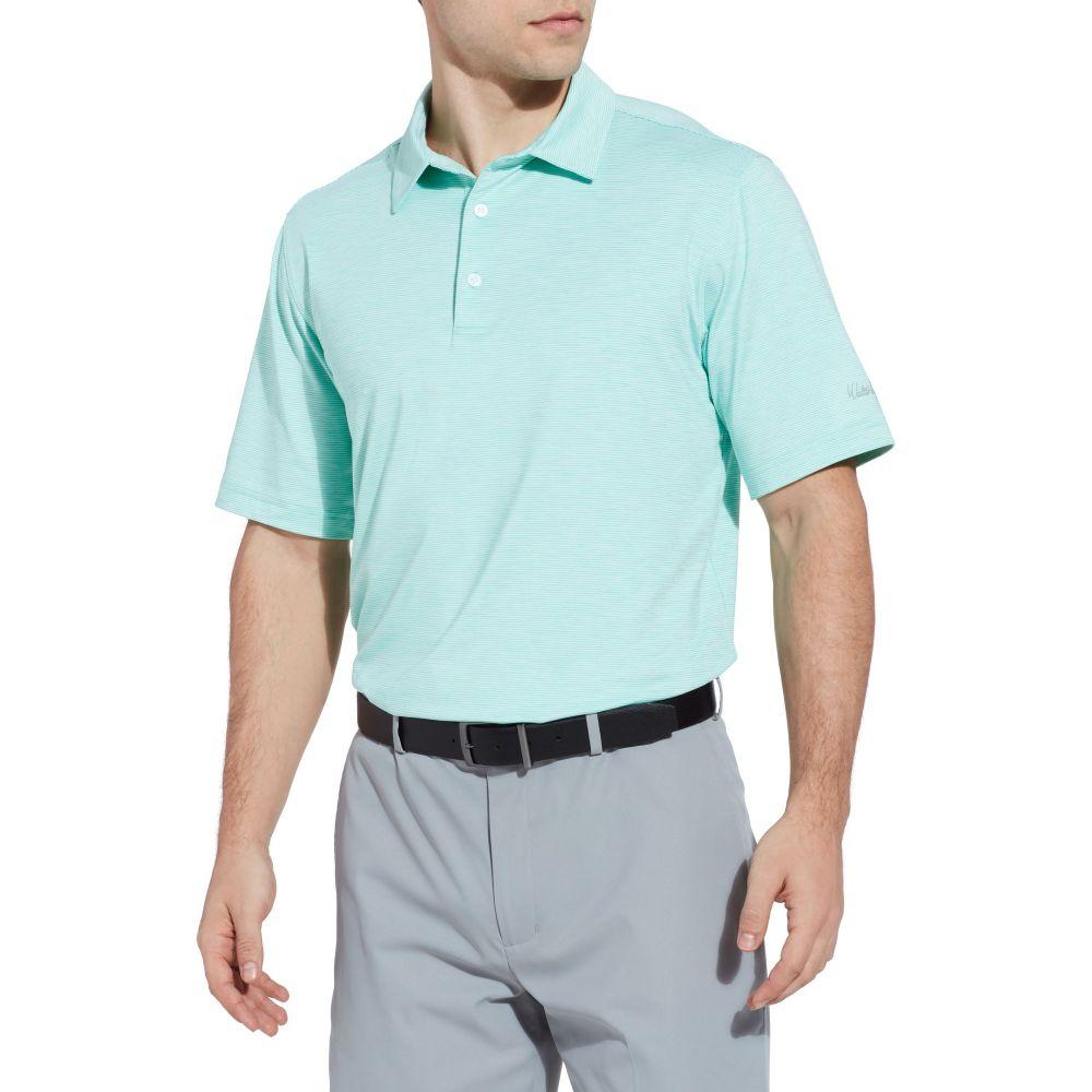 ウォルターヘーゲン Walter Hagen メンズ ゴルフ ポロシャツ トップス【11 majors championship stripe golf polo】Pool Blue