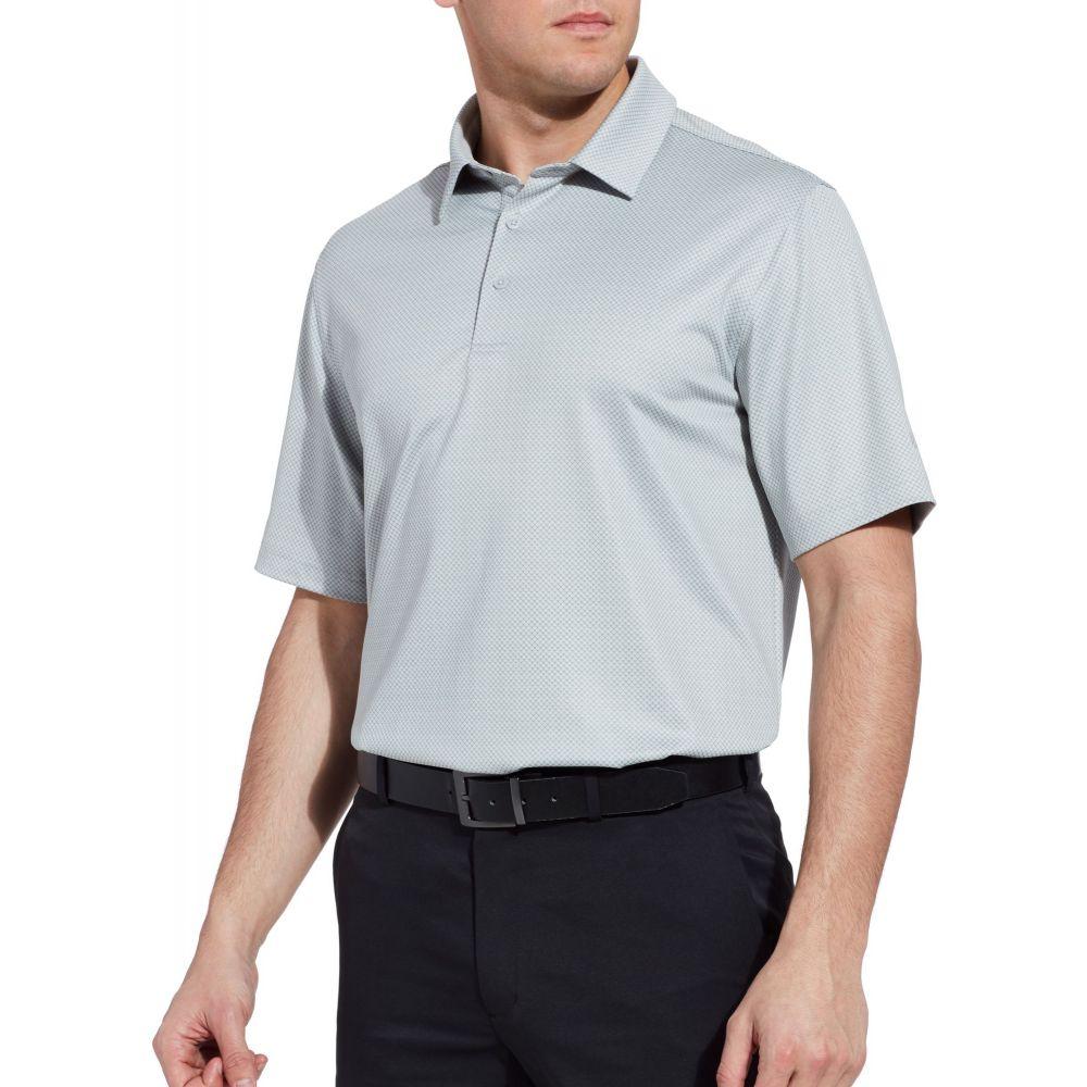 ウォルターヘーゲン Walter Hagen メンズ ゴルフ トップス【11 Majors Textured Solid Golf Polo】Grey Hi Rise